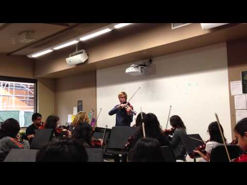 The Buckley School - Guest Violinist Jeremy Kittel with Students
