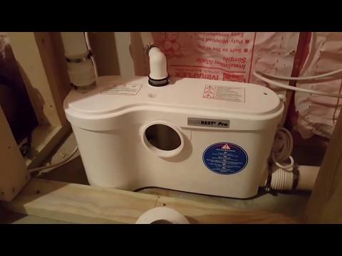 Saniflo Upflush Toilet Installation Tips, Actual Installation