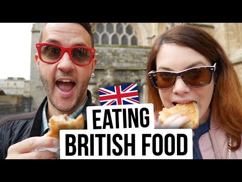 EATING BRITISH FOOD. Trying English Food In BATH.