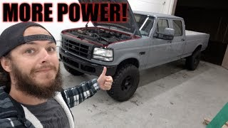 HUGE POWER UPGRADE FOR MY OBS f350 POWERSTROKE!