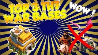 Clash of Clans | Top 3 Town hall 7 War Base | Top 3 TH7 Anti drag/Anti Hog/Anti giants War Base 2017
