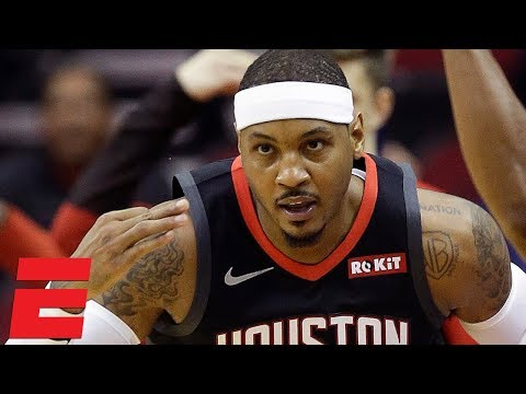 Carmelo Anthony scores 24 points in Rockets' 133-113 loss to Clippers | NBA Highlights