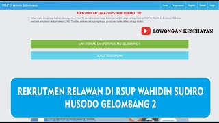 INFO LOWONGAN KERJA DI RSUP WAHIDIN SUDIRO HUSODO GELOMBANG 2