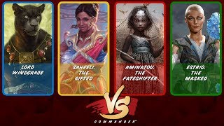 Commander VS S12E4: Lord Windgrace vs Saheeli vs Aminatou vs Estrid