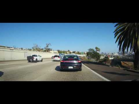Driving from Mission Beach, CA through San Diego to Coronado, California