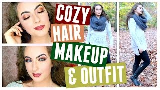 Cozy Fall Hair, Makeup, & Outfit // Get Ready With Me Fall Edition