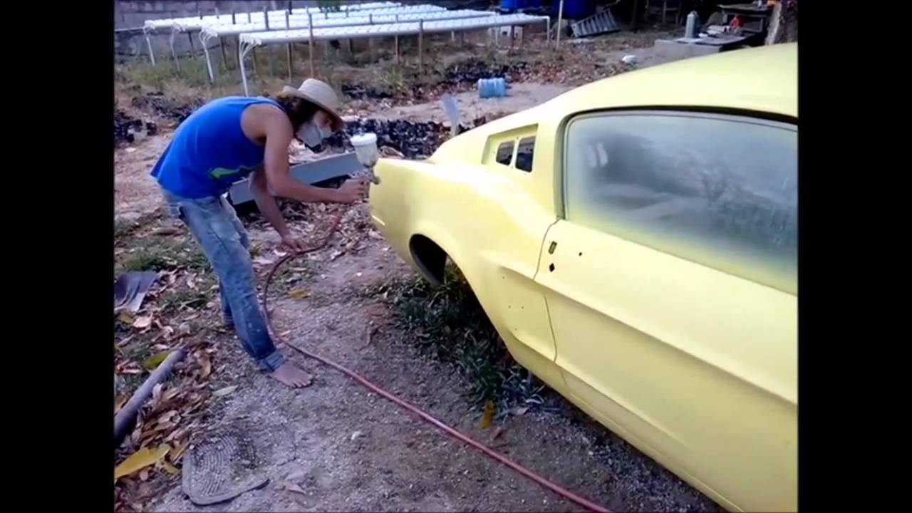 Car Paint Job >> 68 Mustang shelby-Light yellow paint job- 5th episode ...