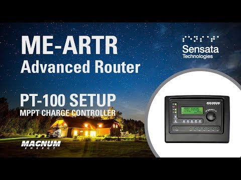 Setup the PT-100 Charge Controller with the ME-ARTR Router