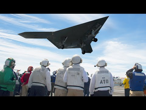 US Testing its Brand New $1 Billion Advanced Aircraft: X-47B Drone. Keep Dancing People. Wow...