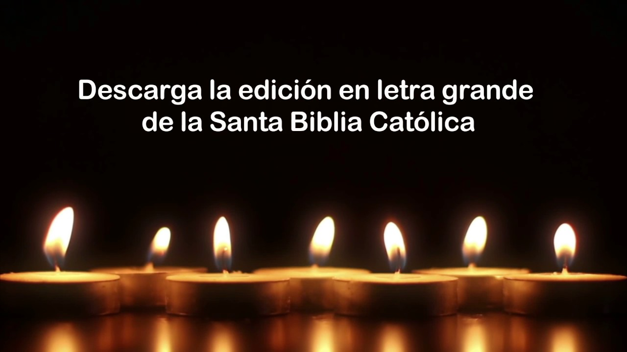 Biblia Católica Letra Grande Youtube