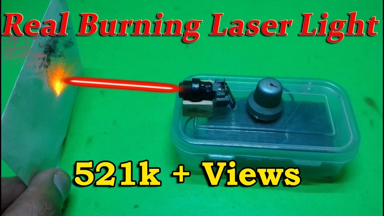 Burning Laser Light - DIY Home Made Laser Light - YouTube