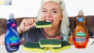 EDIBLE DISH SPONGE ASMR EATING (PRANK) MOST ODDLY SATISFYING EATING SOUNDS (MUKBANG)