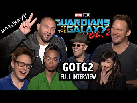 Thumbnail: What does ROCKET RACOON smell like?? GOTG2 FULL INTERVIEW ✨