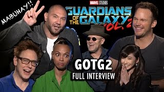 What does ROCKET RACOON smell like?? GOTG2 FULL INTERVIEW ✨