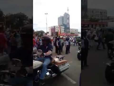 20 moge Harley Davidson di parade budaya peringatan HUT Ke 18 Depok, Sabtu 29/4/2017