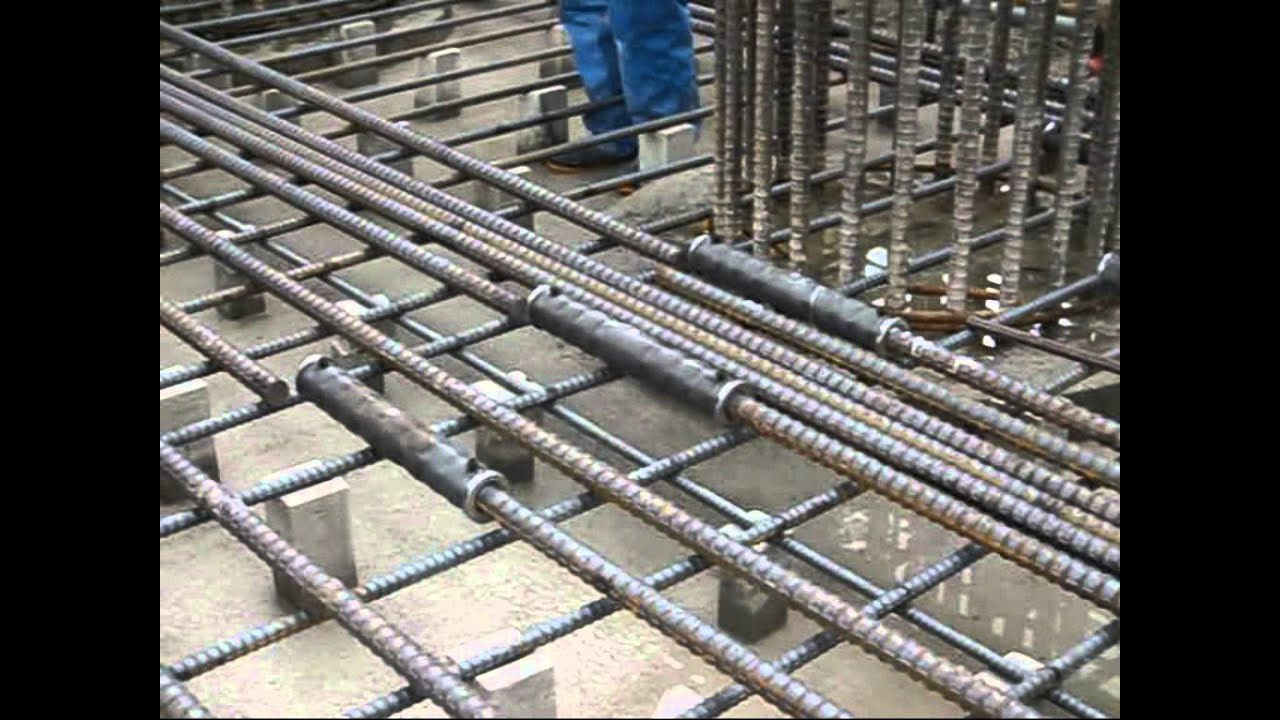 Coupler Detail On The Roof : Grout splicing of reinforcing steel beam column slab
