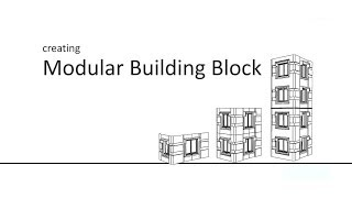 Creating a Modular Building Block with the polygonal-function of Extrude (Autodesk Maya)