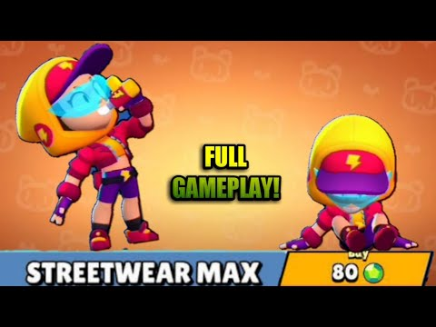 STREETWEAR MAX Skin Full Gameplay,Cost and Animations!