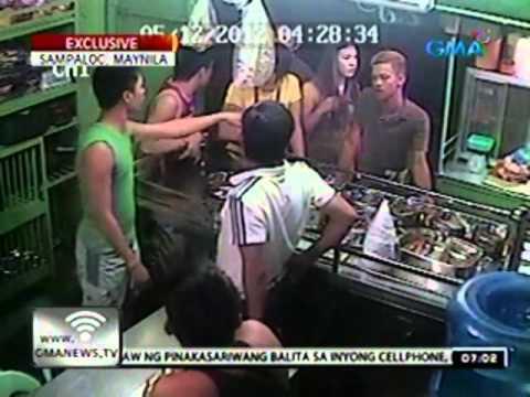 24oras: Tatlong lalaking umano'y nanggugulo sa videoke bar, binugbog