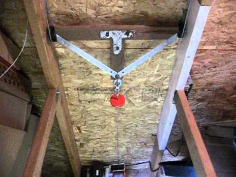 Auto stairs retractable attic loft stairs diy explained for Diy home elevator plans
