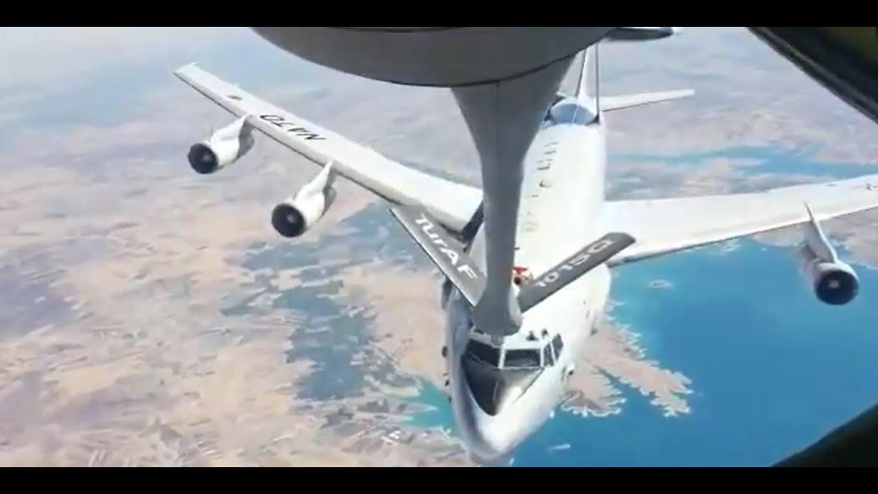 بالفيديو- شاهد.. طائرة تركية تزود أخرى للناتو بالوقود في الهواء