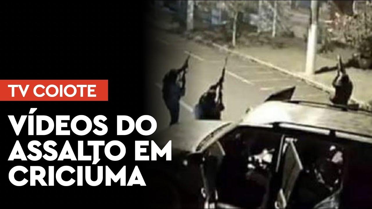 Vídeos do mega assalto em Criciúma