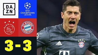 Spektakel! Robert Lewandowski mit Doppelpack: Ajax - FC Bayern 3:3  | Champions League | Highlights