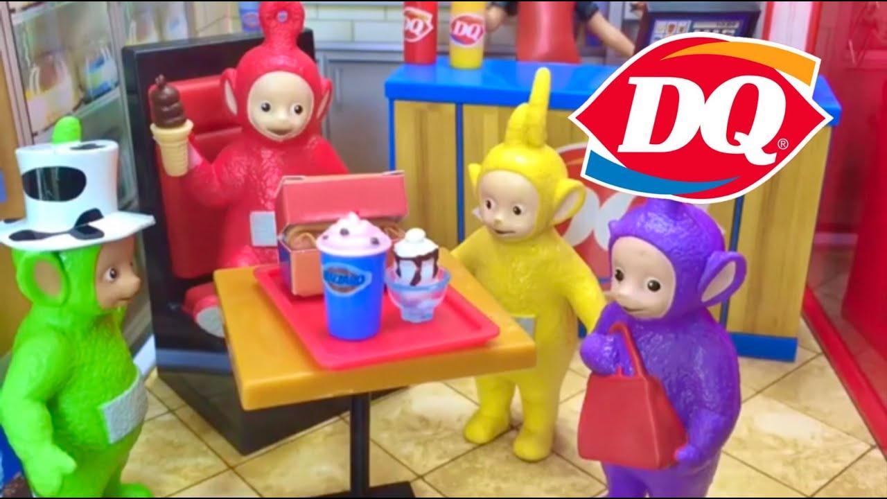 Teletubbies DAIRY QUEEN Restaurant Ice Cream Play Set Toys MiWorld
