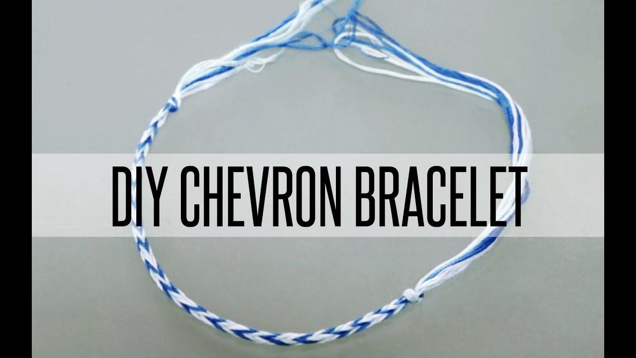 How to make chevron friendship bracelet - Diy Chevron Friendship Bracelet