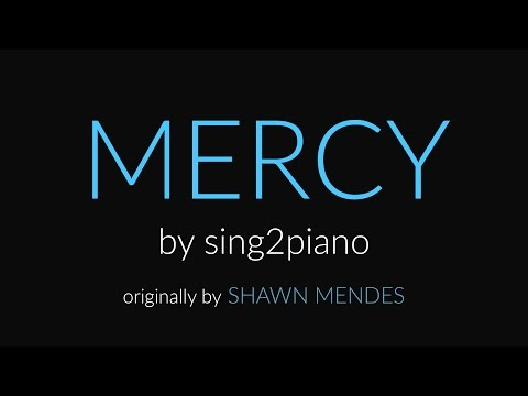Mercy (Piano Karaoke Instrumental) Shawn Mendes