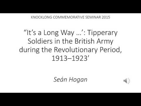 Tipperary Soldiers in the British Army during the Revolutionary Period 1913-1923