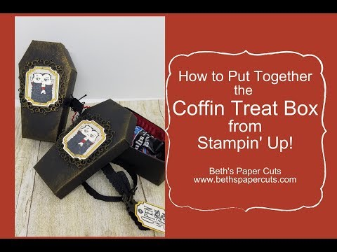How to make a Coffin Treat Box ~ Beth's Paper Cuts