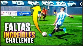 ¡¡FALTAS INCREIBLES CHALLENGE!! - RETOS DE FUTBOL EN LA VIDA REAL.