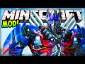 Minecraft - TRANSFORMERS MOD (Fly Planes & Race Cars!) - Minecraft Mod Review