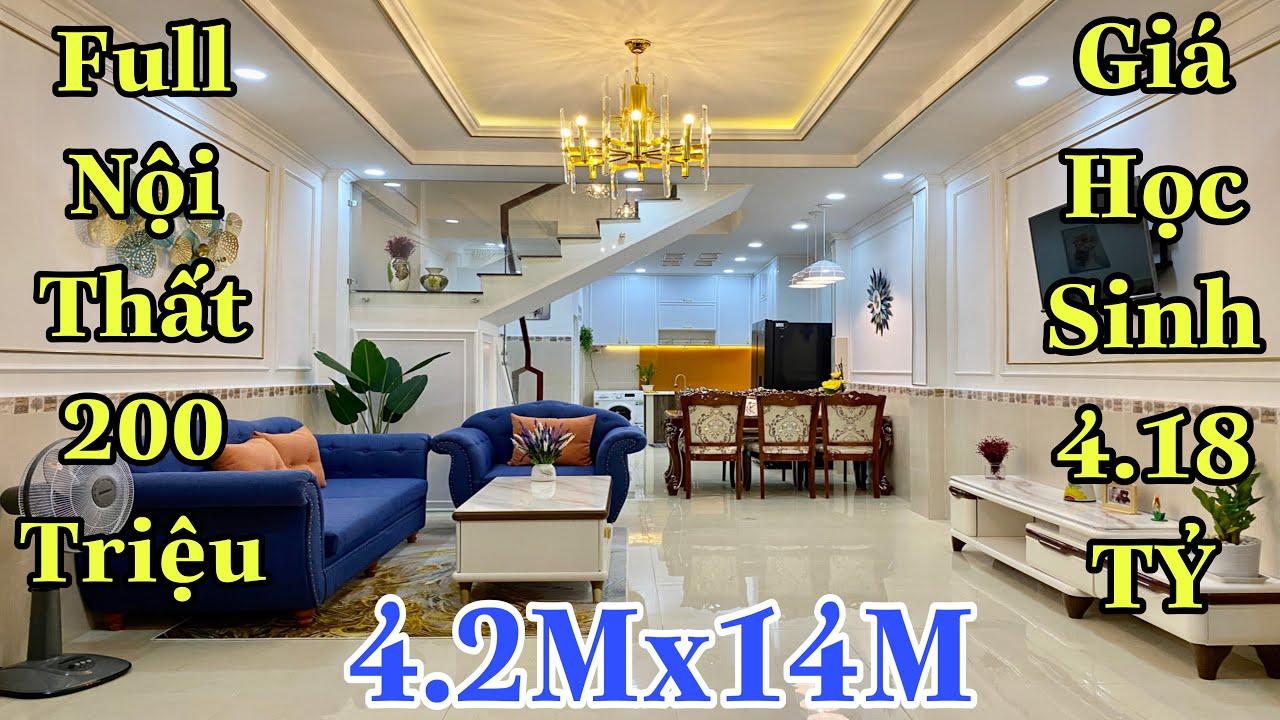 Bán nhà Gò Vấp giá rẻ| Siêu phẩm nhà đẹp 4.2x14m tặng full nội thất 200 triệu| giá rẻ 4.18 tỷ