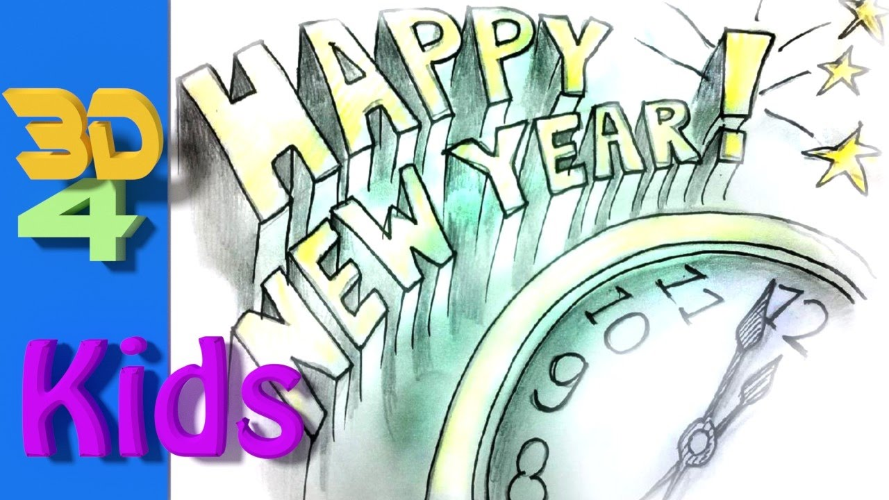 Happy New Year Drawing 25