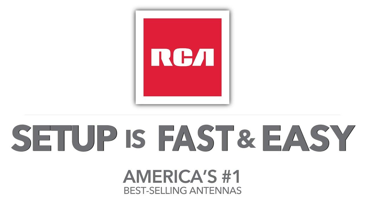 RCA Antennas : Easy Setup