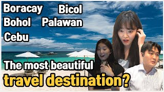 Which place do you wanna go? Koreans react to philippine travel destination