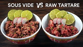 RAW Steak!? Good, Bad or NO WAY! Tartare STEAK Experiment!