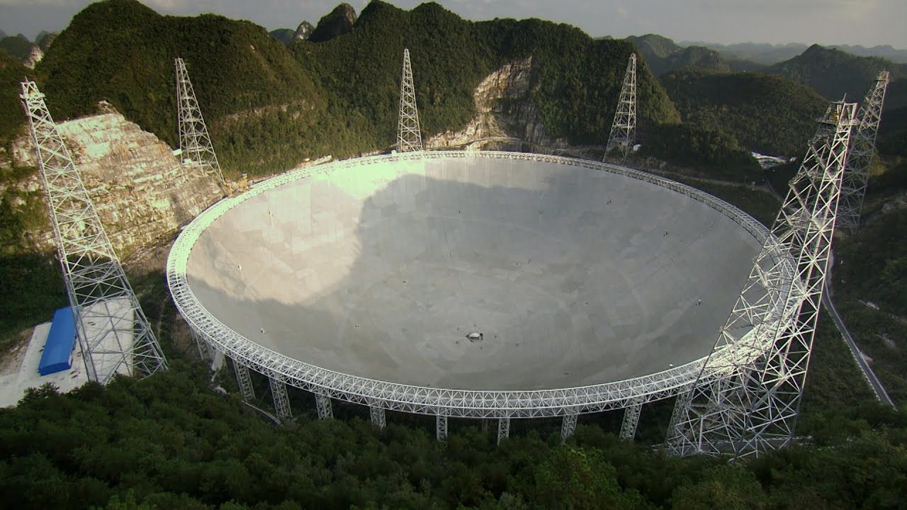 This Giant Telescope Receives Radio Waves From Billions Of Light Years Away
