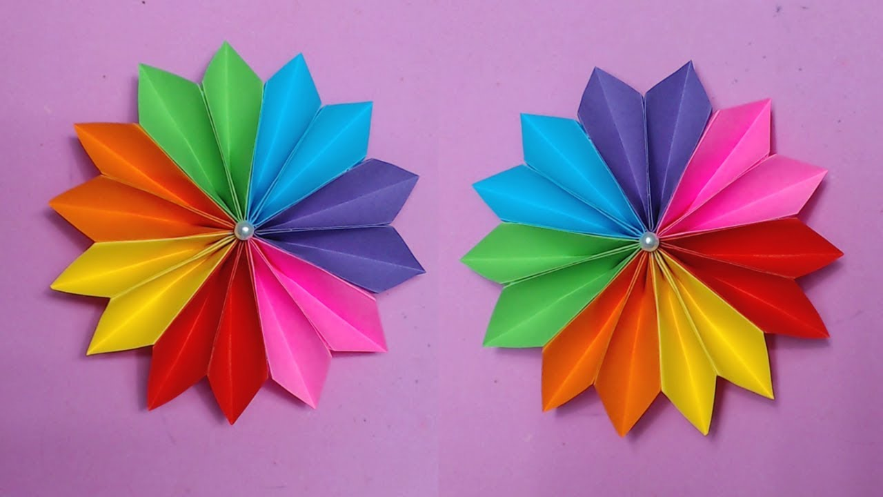 How to make easy flower with color paper making paper flowers step how to make easy flower with color paper making paper flowers step by step diy paper crafts mightylinksfo