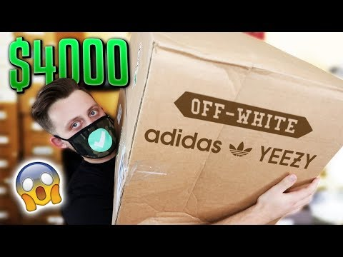 Unboxing A $4,000 Hypebeast Sneaker Mystery Box!! *Off-White Yeezys & More!*