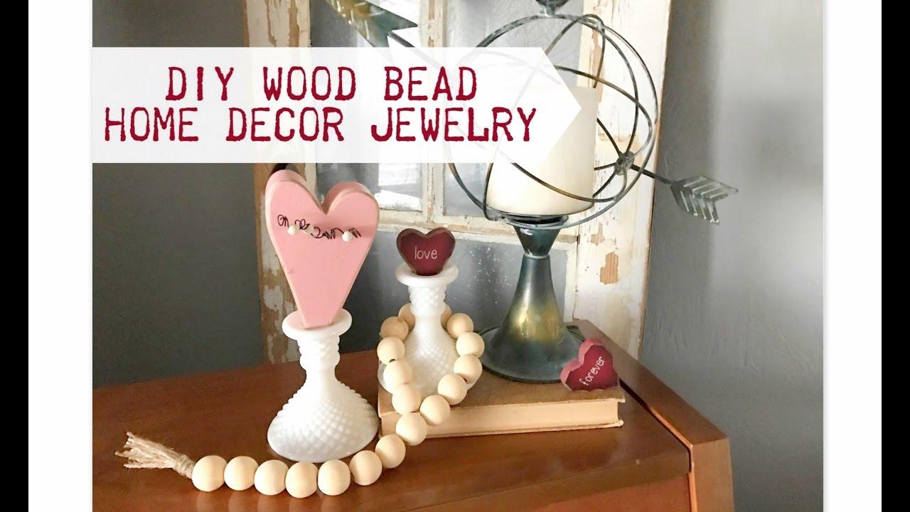 Diy Wood Bead Home Decor Jewelry Youtube