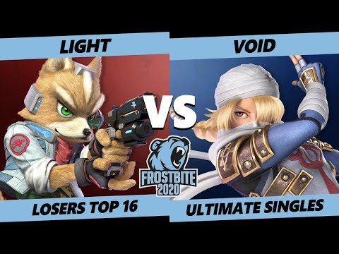 Frostbite 2020 SSBU Losers Top 16 - Rogue | Light  (Fox) Vs CLG | VoiD (Pichu, Sheik) Singles - SSBU