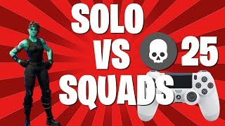 SOLO CONTROLLER vs PC SQUADS: Fortnite Battle Royale Gameplay