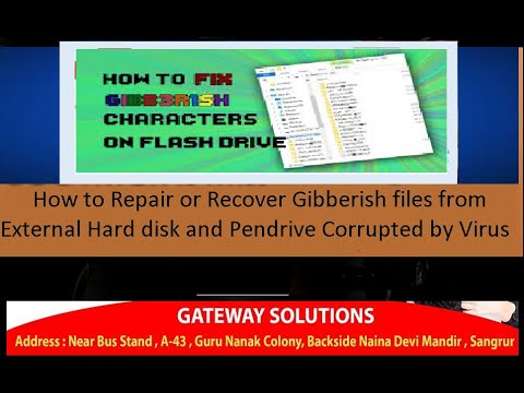 How To Repair Or Recover Gibberish Files From External Hard Disk And Pen Drive Corrupted By Virus