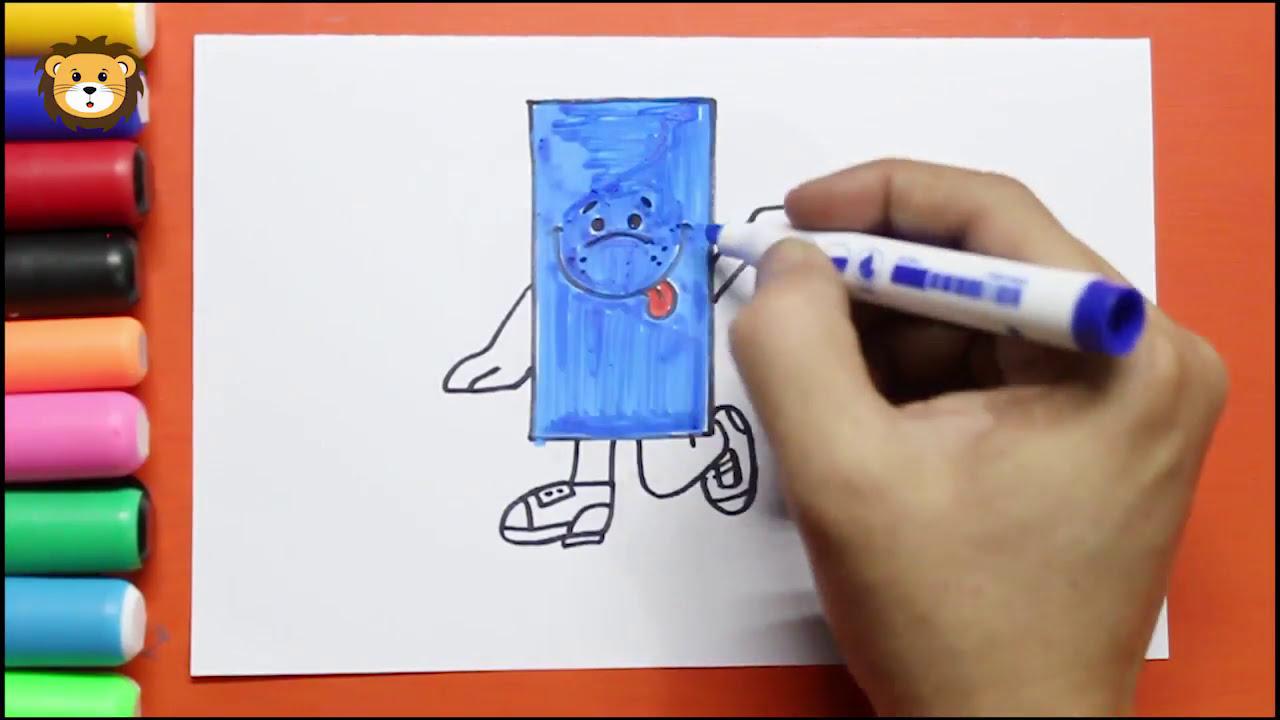 Como Dibujar Figuras Geométricas Rectángulo Dibujos Para Niños Draw And Coloring Book For Kids
