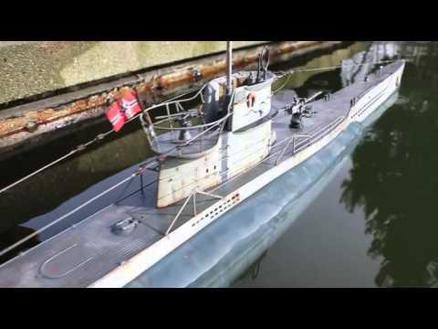 R/C torpedo shot from U-boat DK models 1/48 scale