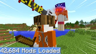 Minecraft Speedrunner VS Hunter on the LARGEST modpack possible