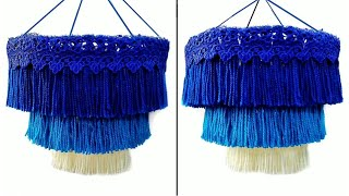 DIY Woolen jhumar / Three Layered Wool Chandlier / Best out of Wool